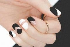 uñas decoradas blanco y negro 10