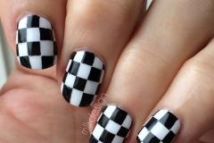 uñas decoradas blanco y negro 5