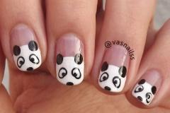 uñas decoradas blanco y negro 9
