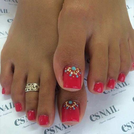 decoracion de uñas delos pies