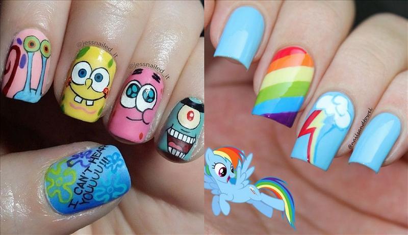 decoracion de uñas para niñas +50 [Para Hacerlos En Casa Facil]